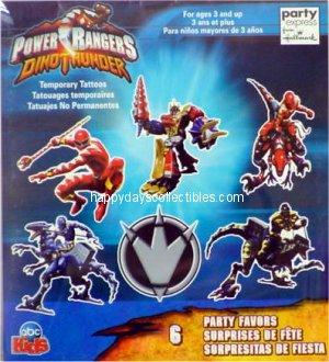 Power Rangers Dino Thunder Tattoos