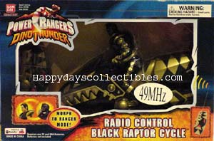 Power Rangers Dino Thunder Radio Control Black Raptor Cycle
