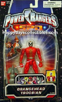 "Evil space alien /""Orangehead Troobian/"" Power Rangers S.P.D"